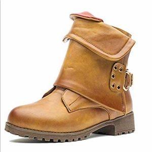 🔥BOGO🔥 🆕 Karkein Brown Moto combat zip up boots